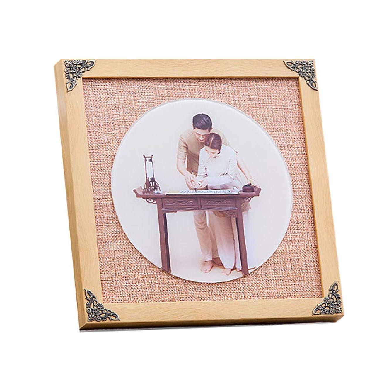 悲劇的な肉の故障サイズ28 * 28cmの衣装のガラスセットテーブル女性の正方形のフォトフレーム壁に取り付けられた氷の結晶のテーブル振り子の正方形の写真フレーム