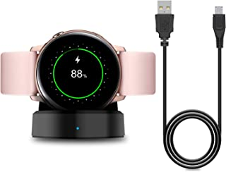Charger Stand for Samsung Galaxy Watch Active 40mm/Galaxy Active 2 Smartwatch, Replacement Charging Cradle Dock for Galaxy Active Watch SM-R500N and Galaxy Active 2 Smartwatch Charger