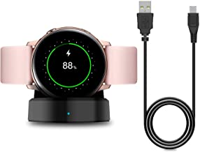 Charger Stand for Samsung Galaxy Watch Active 40mm/Active 2 40mm & 44mm/Galaxy Watch 3 41mm 45mm, Replacement Charging Cra...