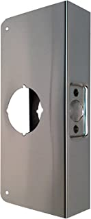 Don-Jo 4-CW-S Stainless Steel Classic Wrap-Around Plate, Satin Stainless Steel Finish, For Cylindrical Door Locks, 4-1/4