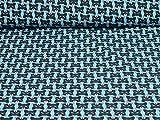 Sweatstoff Waschbären, Ökotex, Waschbärköpfe, blau