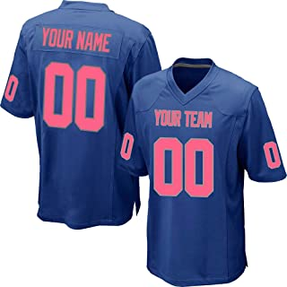 Custom Blue Mesh Replica Football Game Jersey Embroidered Team Name and  Your Numbers a50950e5b