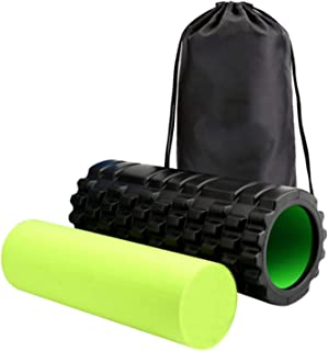 2 in 1 Trigger Point Foam Roller Set, Pain Relief for Aching Back and Sore Legs, Perfect for Runner, Cyclist, Football Athlete, Pilates