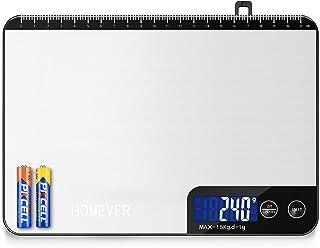 HOMEVER Balance Cuisine-Modèles à boutons, 15kg Balance de Cuisine Electronique de Haute Précision, Fonction de règle, Arr...