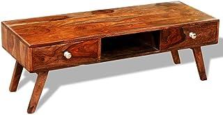 vidaXL Mueble para televisión/aparador Vintage de sheesham con 2 cajones Medidas 40 cm