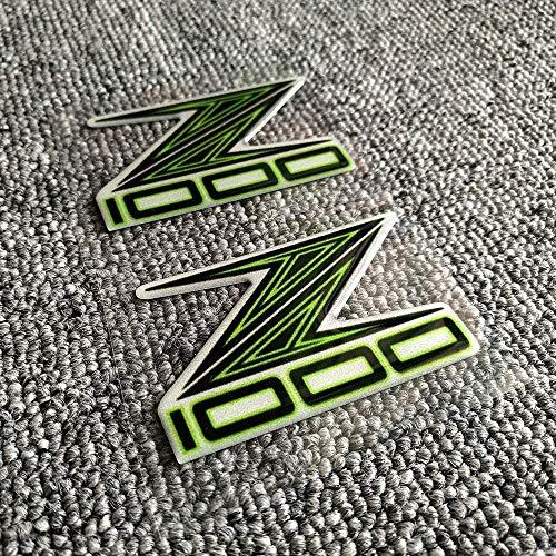 JIANXING haltbare stilvolle Bremskupplungshebel Z 800 900 1000 Motorrad-Abziehbild-Aufkleber-Form-3D-Behälter-Auflage-Emblem for Kawasaki Z800 Z900 Z1000 ABS-Logo-Aufkleber-Pads