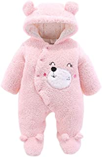 Newborn Baby Jumpsuit Outfit Hoody Coat Winter Infant Rompers Toddler Clothing Bodysuit Outwear