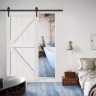 Yaheetech 6 FT Sliding Barn Door Hardware Set Modern Steel Interior Wood Closet Track Kit Black