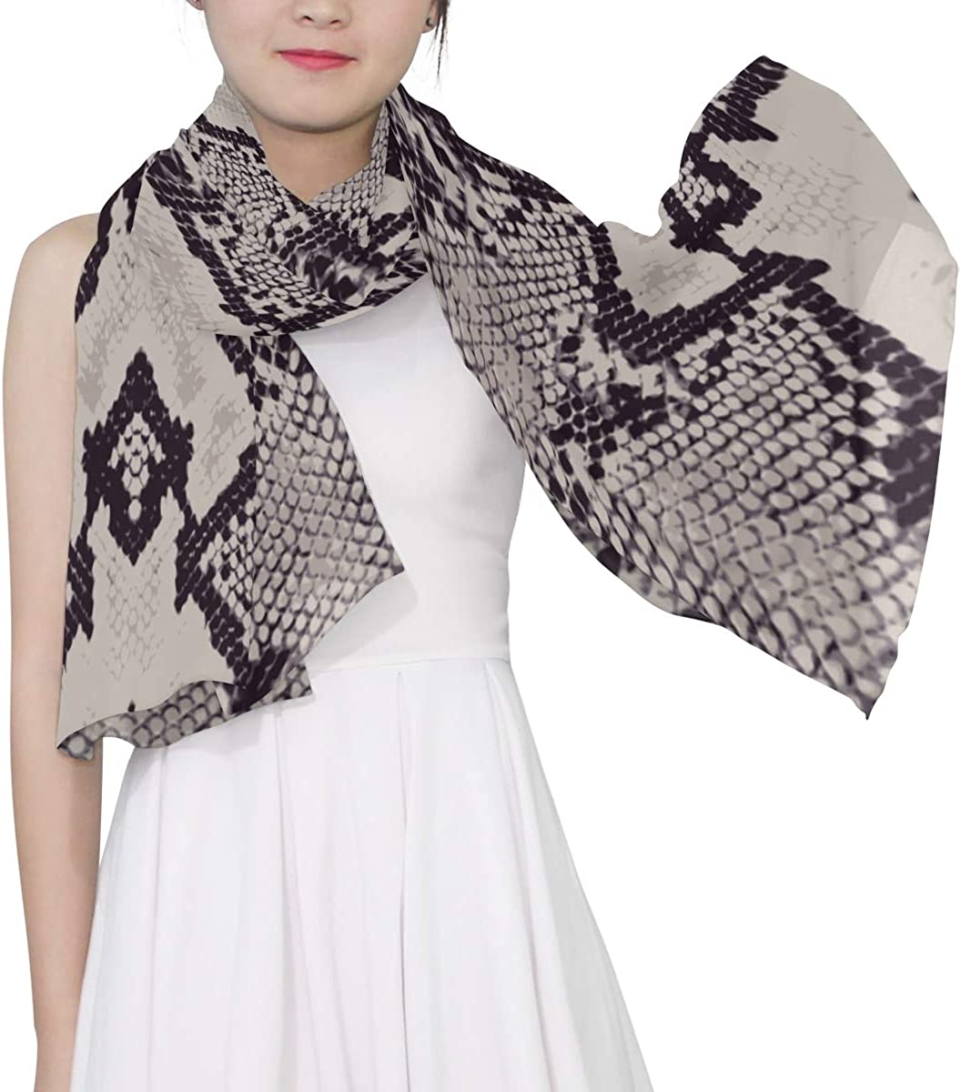 Different Snake Skin Unique Fashion Scarf For Women Lightweight Fashion Fall Winter Print Scarves Shawl Wraps Gifts For Early Spring