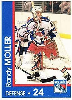 (CI) Randy Moller Hockey Card 1989-90 New York Rangers Midland Bank 15 Randy Moller