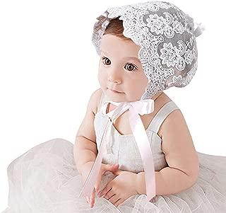 CC-US Infant Newborn Baby Girl Princess Bonnet Lace Hat Photoshoot Prop