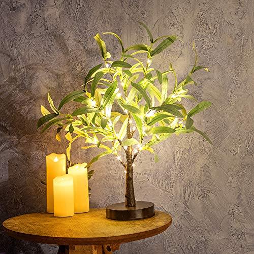 Albero luminoso con 24 luci a LED bianco caldo