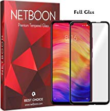 NETBOON Tempered Glass Guard 9H Hardness Curved Edges Full Glue Anti-Fingerprint Screen Protector for Xiaomi Redmi Note 7/7 Pro/ 7S Black