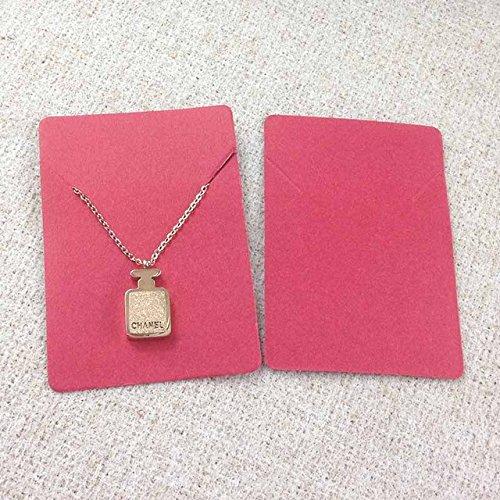 Preisvergleich Produktbild SASDA 50pcs 25Card + 25opp Taschen Kleines Schmuck Tasche kleine Geschenk-Taschen Ohrring-Karten Karton Schmuck-Anzeigen Karton Hot Fashion Design Karte 5x7cm, gleiche wie pic, 5x7cm