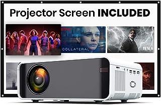 EDGE LE7 MINI 4500 Lumens LED Portable Video Projector with 170' Display, DLNA, 720P Native Support 1080P, HDMI, AV, VGA, ...
