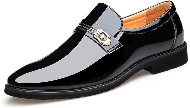 LEDLFIE Men's Real Leather shoes Fashion Slip-On Dress shoes