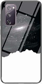 جراب Mylne Glass لهاتف Samsung Galaxy S20 FE، جراب خلفي صلب من الزجاج المقوى من سلسلة Sky Series 9H مع إطار من السيليكون ا...