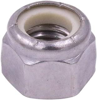 1/2-13 Nylon Insert Hex Lock Nut, NE, Stainless Steel 18-8 SS Nylock - U-Turn (10 Pack)