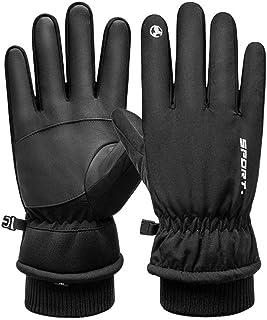 1 par de luvas térmicas de dedo inteiro para motociclismo, luvas esportivas à prova de vento, luvas de inverno para clima ...