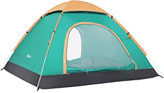 Ubon 2-3 Person Pop up Tent 3 Seconds Instant Tent Lightweight Automatic Portable Tent Backpacking Tent Waterproof Sun Shelter for Outdoor Indoor Family Camping Backpacking Picnic Beach