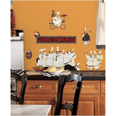 Amazon Com New Chefs Wall Decals Kitchen Chef Stickers Cooking Decor Cafe Decorations Baby