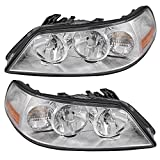 Driver and Passenger Halogen Headlights Headlamps Replacement for 2003-2004 Town Car 4W1Z13008AB 4W1Z13008AA