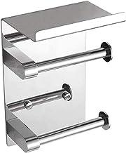 Double Roll toiletrolhouder Wall Mounted met Shelf, SUS 304 Roestvrij Staal Badkamer Accessoires Tissue Roll Dispenser Sto...