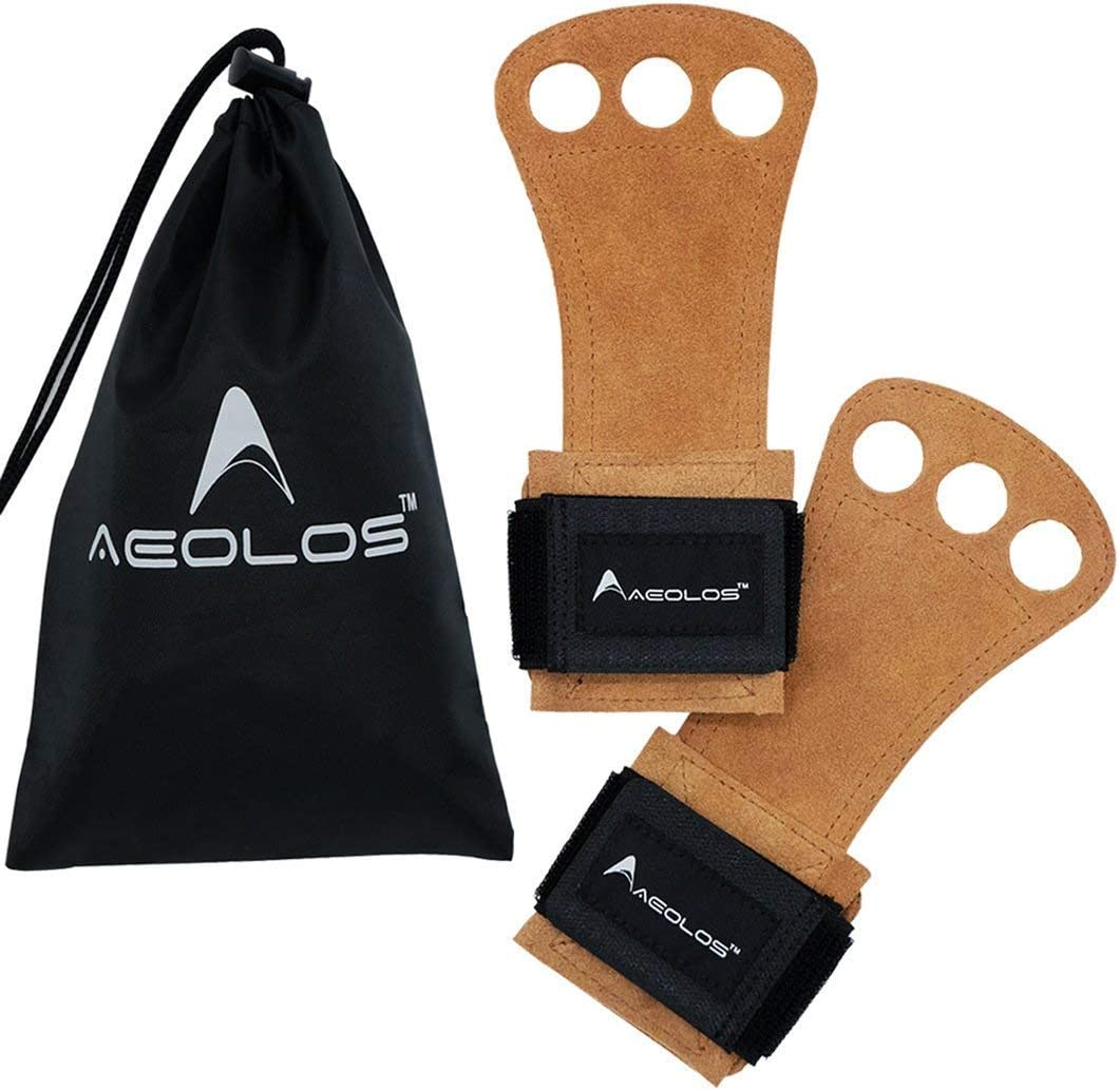 Genuine NEW before selling AEOLOS Leather Gymnastics Hand u for Pull Grips-Great