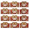 Amosfun 12個中国新年赤封筒2022干支虎新年ラッキーマネーパケット中国レッドパケット香港バオギフト貯金封筒クリスマスパーティーギフト