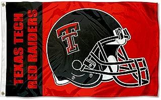 Texas Tech Large Football Helmet 3x5 College Flag