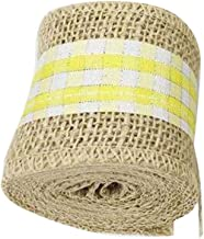 Country Style 5cm Diameter Colored Cloth+Jute Cloth Roll Linen Rope-6.5 ft/E