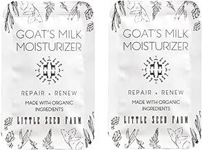 Little Seed Farm Goat's Milk Facial Moisturizer - All Natural, Organic Face Moisturizer - Sample Pack