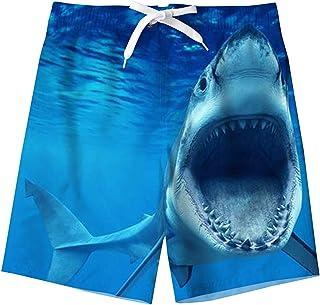 Spreadhoodie Niño Bañador Natación 3D Impresos Secado Rápido Ropa de Playa Hawaiano Pantalones Cortos con Bolsillos Latera...