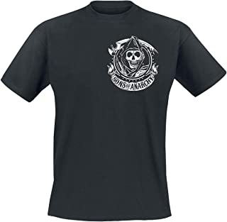 Sons of Anarchy Charming California Hombre Camiseta Negro, Regular