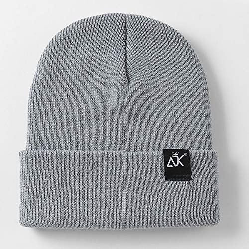 Unisex Hats Knitted Cap Woman Beaines For Winter Breathable Men Gorras Simple Hats Warm Solid Casual Lady Beanies-Light Grey