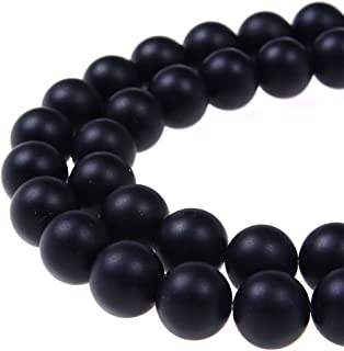 PLTbeads Gorgeous Onyx Black Agate Natural Gemstone Loose Beads 6mm Matte Round Approxi 15.5 inch DIY Bracelet Necklace For Jewelry Making