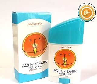 [Sunny Check] アクアビタミンサンスティックSPF50 + PA +++ 26g(0.9oz)/UVプロテクション/韓国化粧品/Aqua Vitamin Sun Stick SPF50+ PA+++ 26g(0.9oz)/UV protection/Korean Cosmetics (3EA) [並行輸入品]