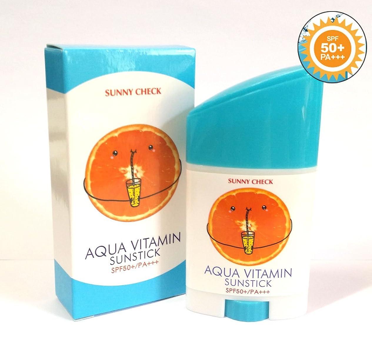 ばか商標死すべき[Sunny Check] アクアビタミンサンスティックSPF50 + PA +++ 26g(0.9oz)/UVプロテクション/韓国化粧品/Aqua Vitamin Sun Stick SPF50+ PA+++ 26g(0.9oz)/UV protection/Korean Cosmetics (2EA) [並行輸入品]
