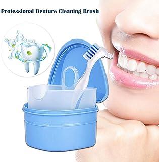 Wei/ß Healifty Zahnprothese Beh/älter Zahnprothesenbecher Zahnspangendose mit Entl/üftungsbohrungen und Klappdeckelverschl/üssen