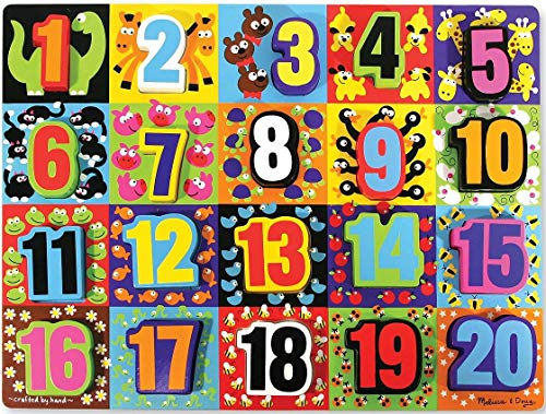 Melissa & Doug Jumbo Numbers Wooden Chunky Puzzle by Melissa & Doug TOY (English Manual)