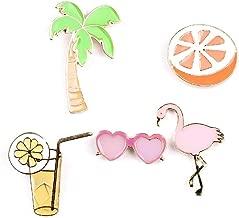 OAONNEA Enamel Lapel pin Set 5 Piece Cartoon Brooch pin for Girls Jewelry