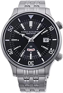 Orient RA-AA0D01B1HB Men's Weekly King Diver Stainless Steel Black Dial Day Date Automatic Watch