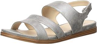 LifeStride Women's Ashley Flat Sandal, Light Grey, 6 M US