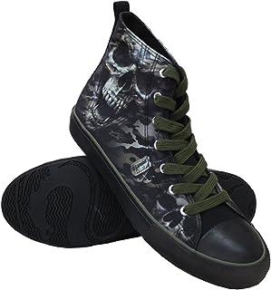 Spiral - CAMO Skull - Sneakers - Men's High Top Laceup