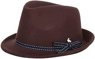 Hat Unorthodox Lady hat Woollen Fabric hat Tophat Fashion hat Winter hat (Color : Coffee, Size : 57cm)