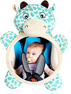 BLLKE Baby Mirror for Car, Wide Clear View Baby Seat Back Car Mirror, Shatterproof Car Baby Seat Accessories Crash Tested Certified Newborn Safety New Born Essential