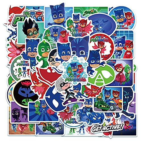 BUCUO Pijamas Hombre Enmascarado Dibujos Animados Divertido Graffiti Pegatina Impermeable Equipaje portátil monopatín Tendencia Pegatina 50 Uds