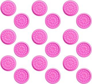 FRCOLOR 100 Stks Valse Wimper Lijm Houder Bloemvorm Wimper Extension Lijm Pallet Pads Valse Wimper Lijm Lade Voor Make up ...