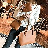 ショルダーバッグ 1つのファッショナブルなPUレザー女性ハンドバッグシングルショルダーバッグメッセンジャーバッグ(ブラック) (Color : Brown)