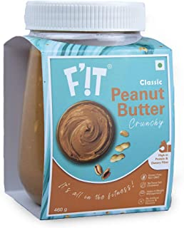F'!T Classic Peanut Butter Crunchy, Rich in Protein | Vegan | Gluten Free - 460g